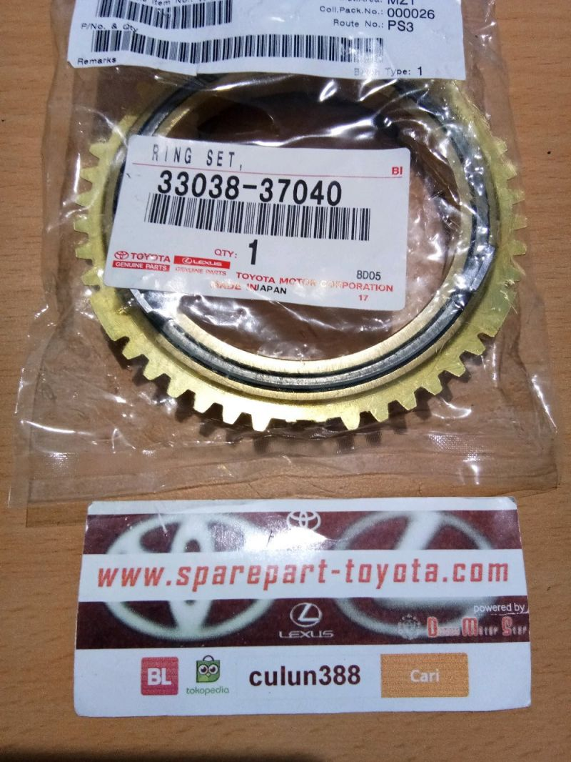 Ring Set Synch - Ring Sincromis Toyota Dyna 130HT 33038-37040
